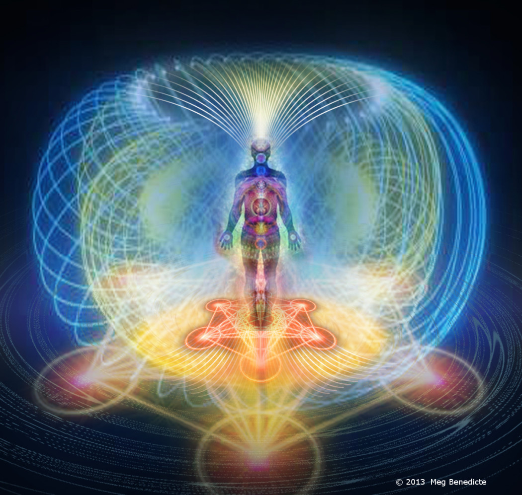 Holistic Picture of how aura energy flows around the body